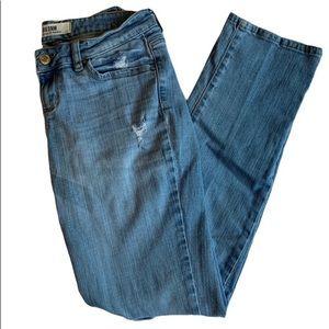 GARAGE | Straight leg distressed stretch jean